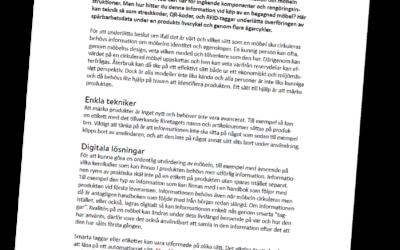 Ny Snabbfakta: Information och tekniker för spårbara möbelflöden