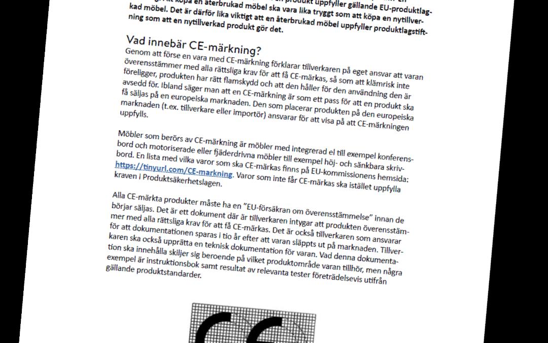 CE-märkning i en cirkulär kontext