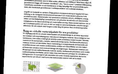 Materialval för cirkulära möbelflöden